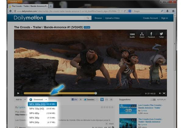 1 Click Dailymotion Download