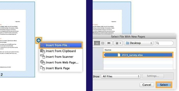 insert page with acrobat