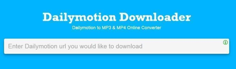 dailymotion to mp3 online