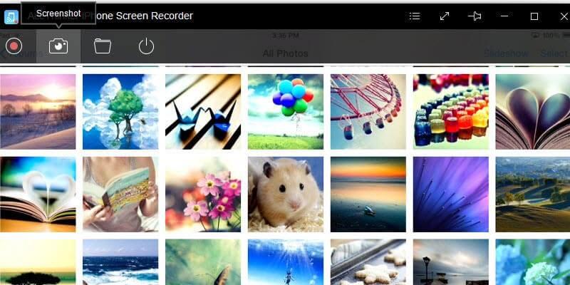 take screenshot on iphone recorder