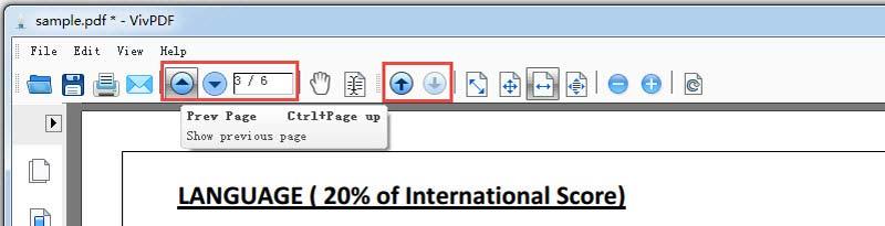 navigate PDF