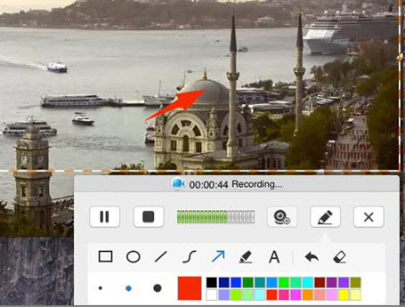 annotate when recording mac screen