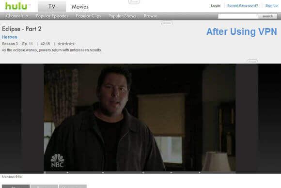 VPN Hulu After