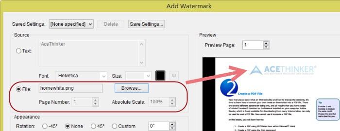 watermark on pdf