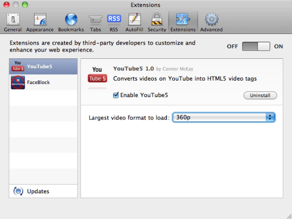 youtube5 converter extension