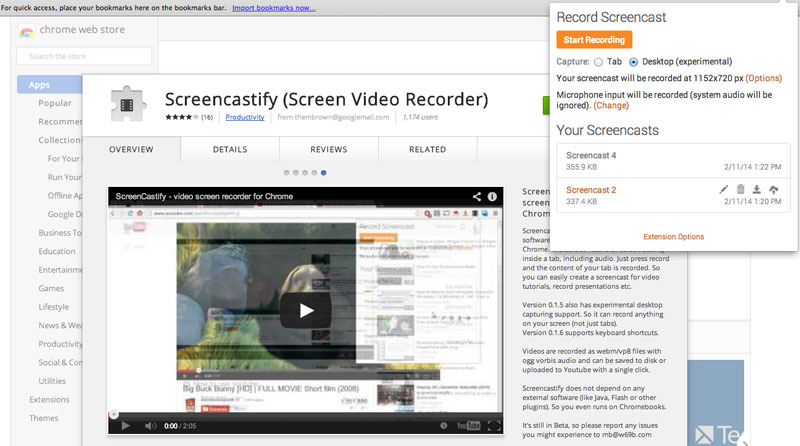 chrome screen recorder screencastify