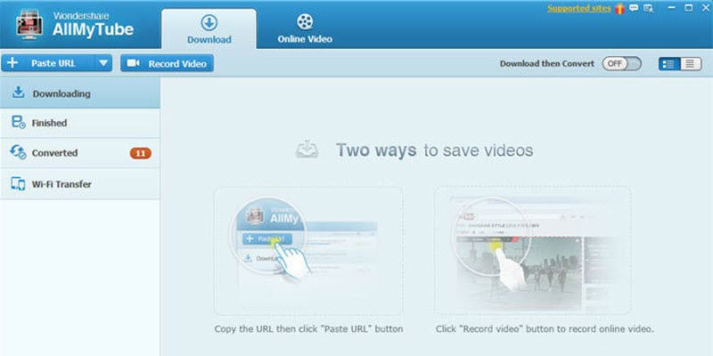 interface of video keeper