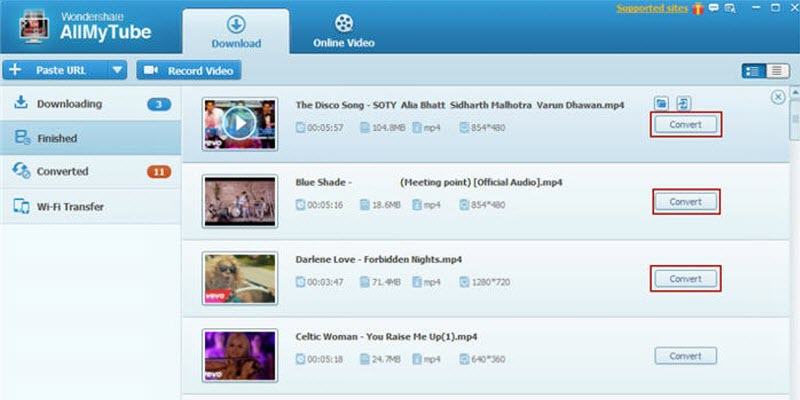 manage video downloads